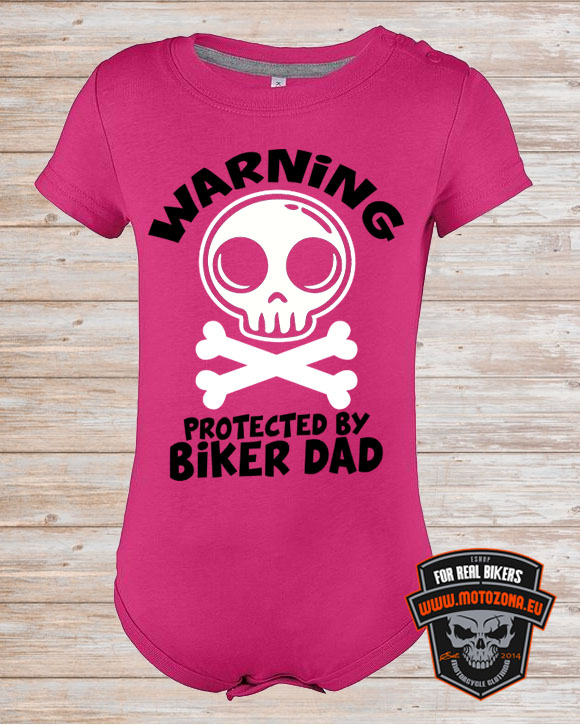 Detské body Protected by Biker Dad