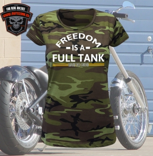 Maskáčové mototričko Freedom is a full tank